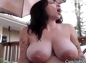 White Plays With Pussy Outside Trailer - CumBabyCam.com