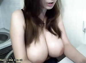 Sexy model Huge simple boobs show